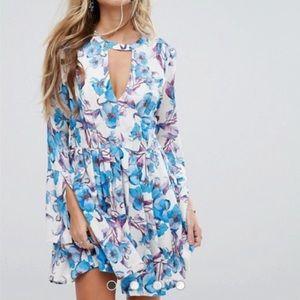 Free People Tegan Long Sleeve Mini Dress
